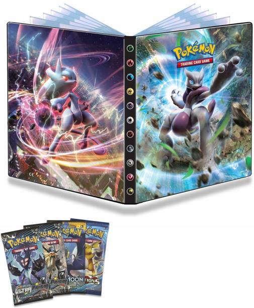 AncientKart Pokemon Big Sized High Quality Ultra Prism Booster Collector Binder Folder Album File with 216 holders & card packs
