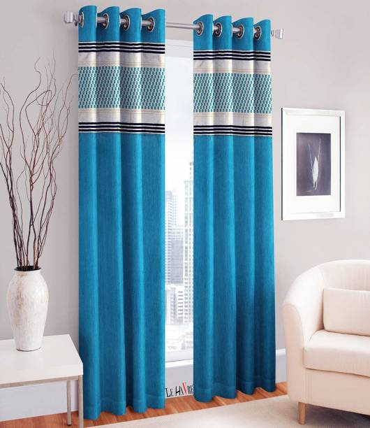 Le Havre 152 4 Inch 5 Ft Polyester Window Curtain Pack Of 2