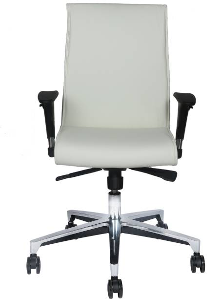 25465fa13c1 MISURAA Imported Ergonomic Office Chair Viva Mid Back in White By MISURAA  Leather Office Arm Chair