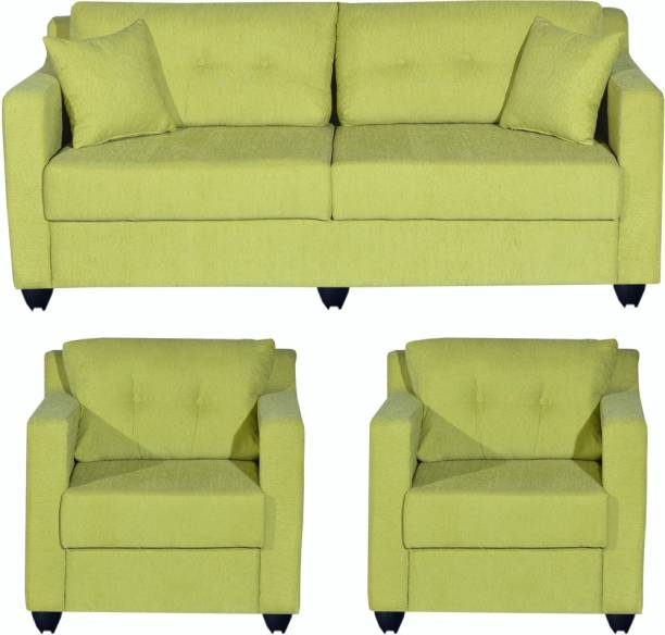 Bharat Lifestyle Lisbon Fabric 3 + 1 + 1 Green Sofa Set