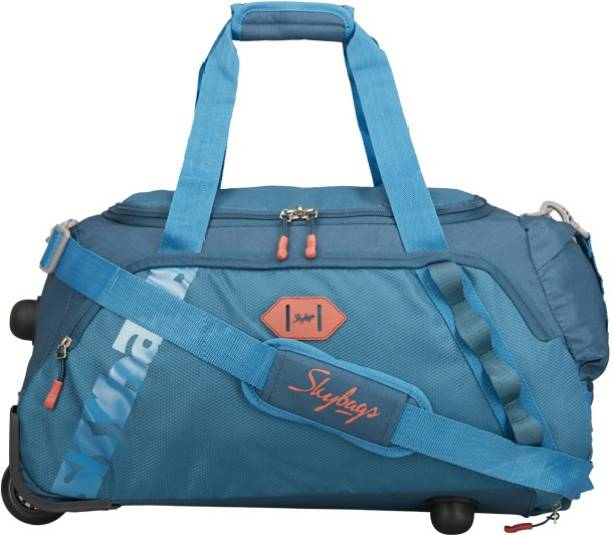 skybags xenon dft 55 teal duffel strolley bag