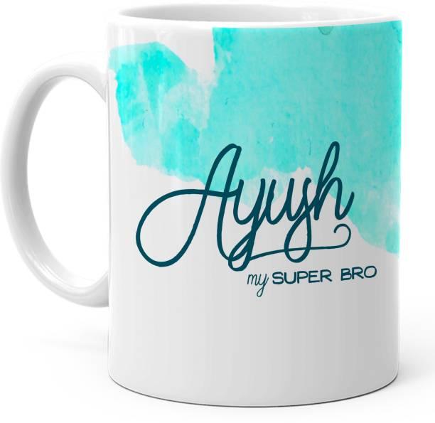 "HOT MUGGS ""Ayush"" - My Super Bro Personalized Ceramic Coffee Mug"