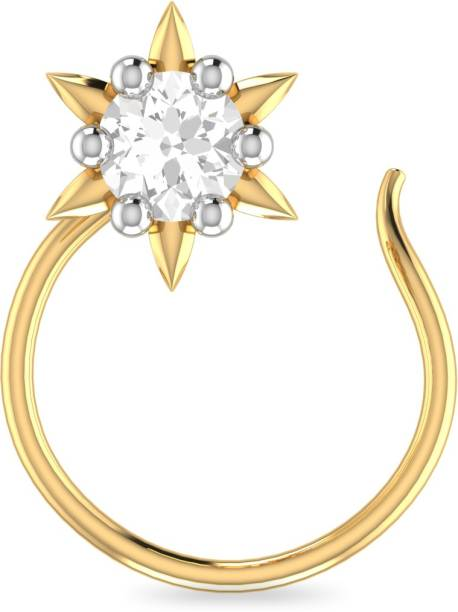 Gold Nose Rings Designs Buy Gold Nose Pinsstuds Online At Best