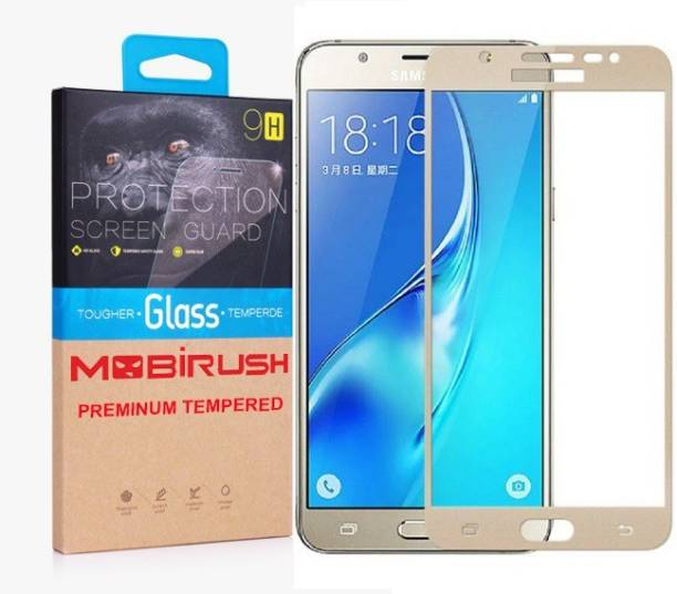 MOBIRUSH Edge To Edge Tempered Glass for Samsung Galaxy J7 - 6 (New 2016 Edition)