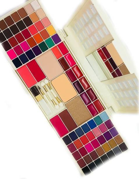HR Makeup kit ALL IN ONE EYESHADOW Blush Face Powder Lipstick Brush kit