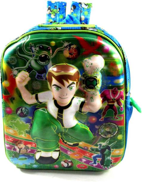 ehuntz Ben10, 5D embossed school Bag (Pre Nursery & Nursery) (EH1126) Waterproof School Bag
