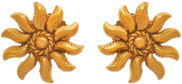 125dbbbf0 JFL-Jewellery For Less JFL - Traditional Ethnic One Gram Gold Plated  Designer Stud Earring