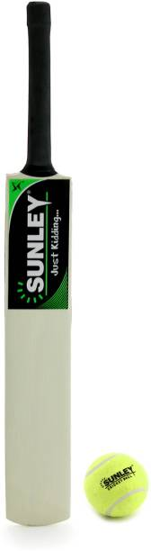 SUNLEY Junior Cricket Bat Size 3 For Age Group 8 Years with 1 Piece Tennis Ball Cricket Kit