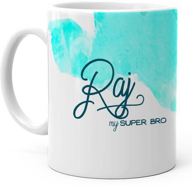 "HOT MUGGS ""Raj"" - My Super Bro Personalized Ceramic Coffee Mug"