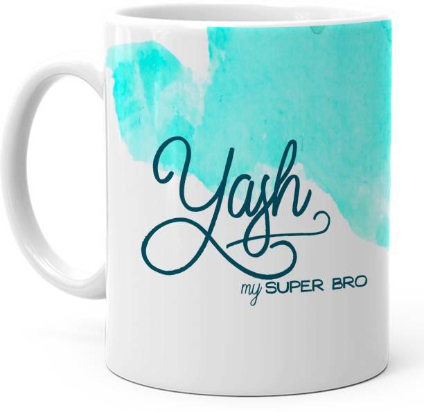 "HOT MUGGS ""Yash"" - My Super Bro Personalized Ceramic Coffee Mug"