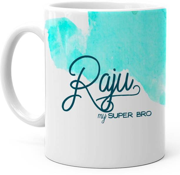 "HOT MUGGS ""Raju"" - My Super Bro Personalized Ceramic Coffee Mug"