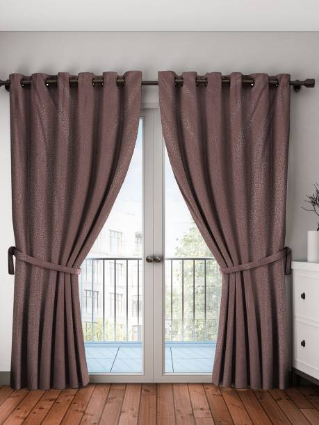 Ay Dyeing 214 Cm 7 Ft Polyester Door Curtain Pack Of 2