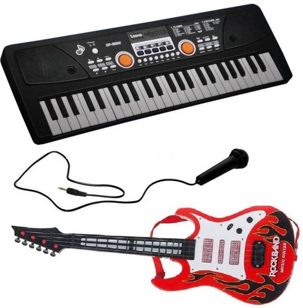 18c6874a2 Bluekart Online Combo Of 49 Key Piano Keyboard Toy for kids DC POWER OPTION  + RECORDING