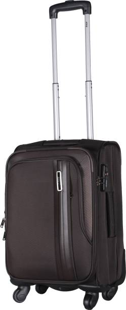 b4d31fec491b VIP Spinner Soft Trolley 56 cm (Brown) Expandable Cabin Luggage - 22 inch