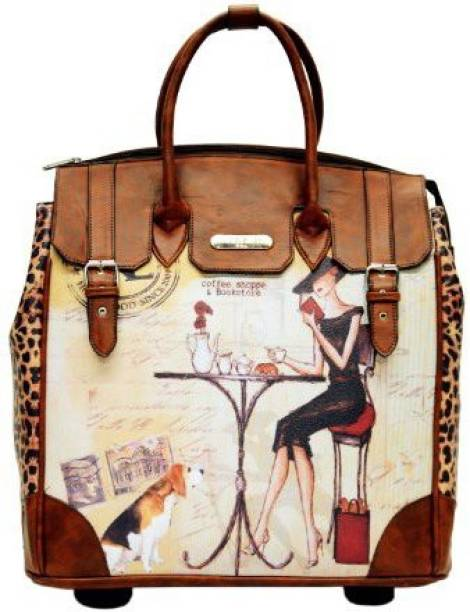 Nicole Lee Graphic Printsoft Body Cabin Luggage 22 Inch