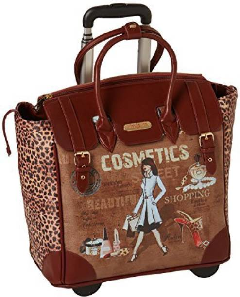 Nicole Lee Graphic Printsoft Body Cabin Luggage 21 Inch