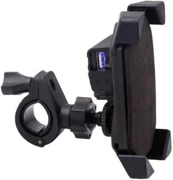 Riya Touch 360 Degree Rotation Mobile Phone Holder With Fast Charger Bike Mobile Holder