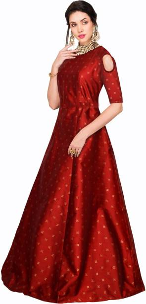 885917ad22 Raw Silk Gowns - Buy Raw Silk Gowns Online at Best Prices In India ...