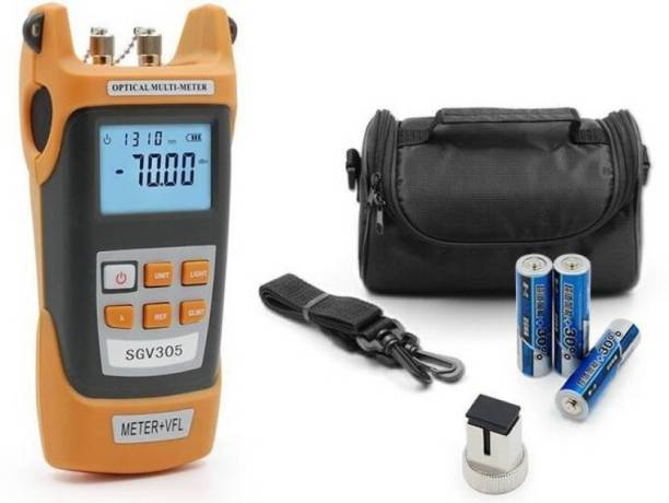 Techtest 2 In 1, Optical Power Meter With Laser, Optical Power Meter Fiber, +20 To -50Dbm, Visual Fault Locator 10Mw, Optical Power Meter Digital Multimeter