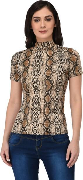 3ec8e585a11180 Paparazzi Closet Casual Short Sleeve Printed Women s Multicolor Top