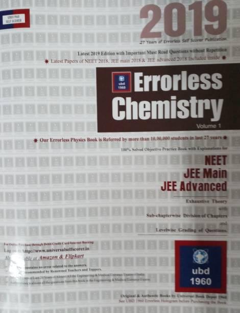 ERRORLESS CHEMISTRY NEET JEE MAIN JEE ADVANCED 2019