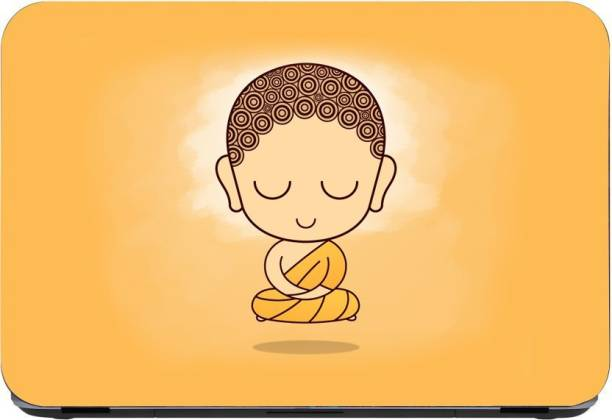 Flipkart SmartBuy Baby Meditating Buddha 3m or avery imported vinyl woith lamination Laptop Decal 15.6