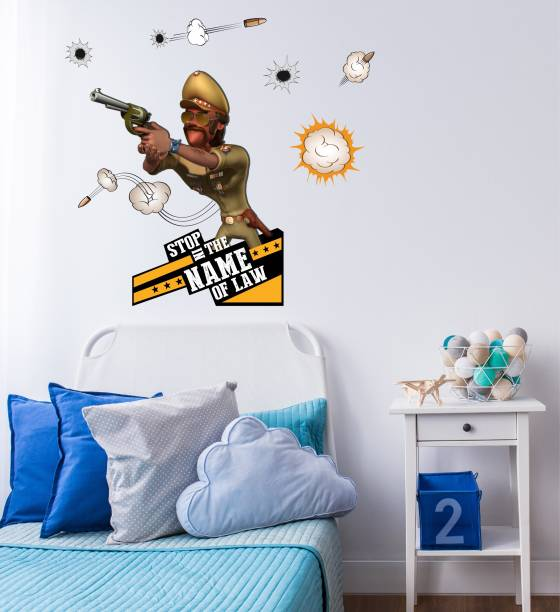ASIAN PAINTS Extra Large Wall Ons Motu Patlu Chingum in Action Adhesive Type