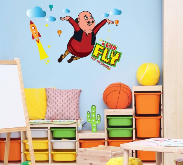 ASIAN PAINTS Extra Large Wall Ons Motu Patlu I can fly Adhesive Type