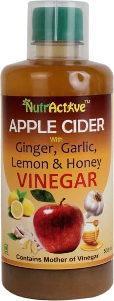 NutrActive Apple Cider Vinegar with Ginger, Garlic, Lemon & Honey Vinegar