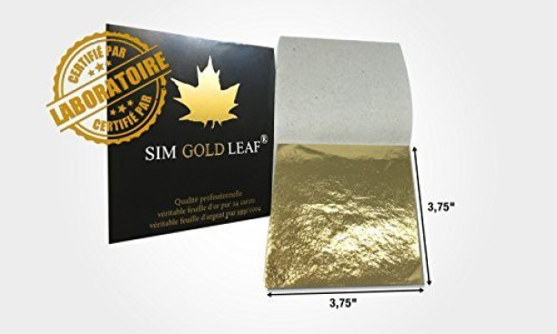 100/% Genuine Edible Silver leaf 10 sheets
