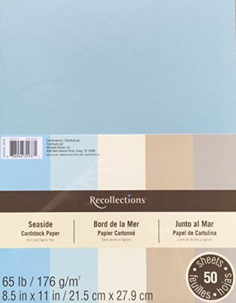 Recollections Cardstock Paper 50 Sheets 8 1//2 X 11 Cape Cod Blues