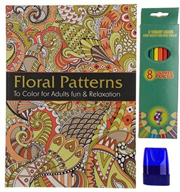 Hickoryville Fashion Adult and Teen Coloring Book Bundled with Vibrant Colored Pencils