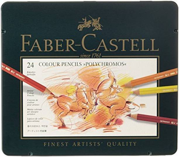 FABER-CASTELL Faber-Castel 24 Piece Polychromous Colored Pencil Set In Metal Tin