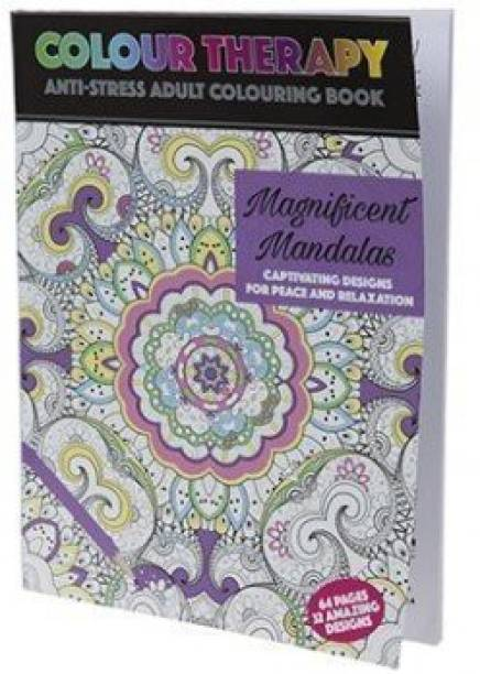 PMS Adult Colouring Therapy 64 Page A4 Magnificent Mandalas