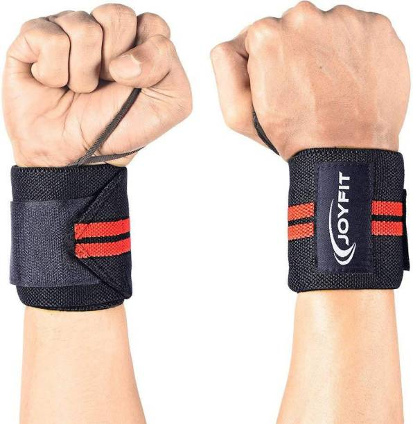 Joyfit Wrist Wraps Adjustable Pair with Thumb Loop for Weightlifting, Powerlifting, Gym Wrist Support
