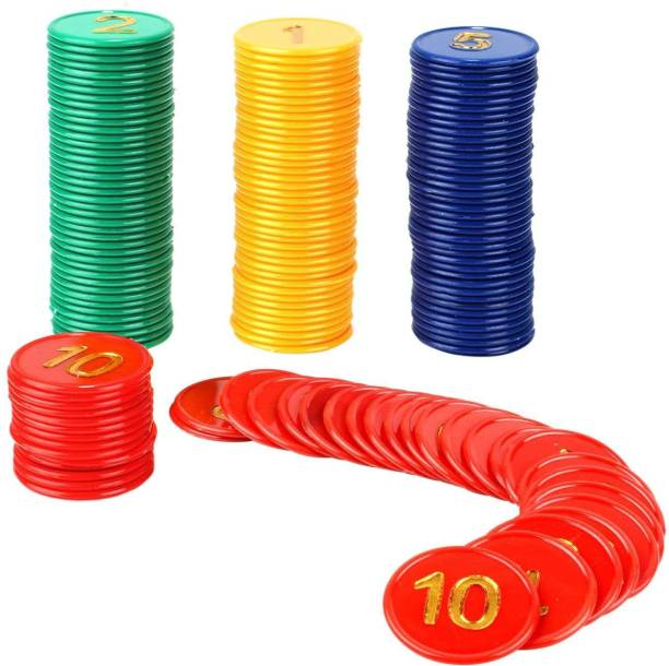 Jonquin Poker Chips Set (1, 2, 5, 10) 40 Coins Each