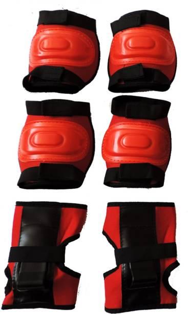 Hipkoo Sports Protection Guard 3 in 1 (Elbow, Knee & Hand Guard) Skating Guard Combo