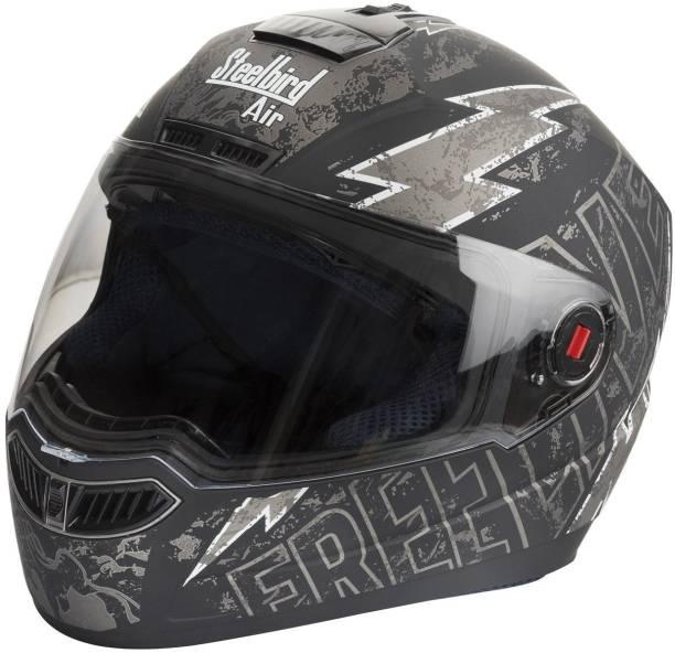 Steelbird Air SBA 1 Free live Matt Black with Grey Motorbike Helmet
