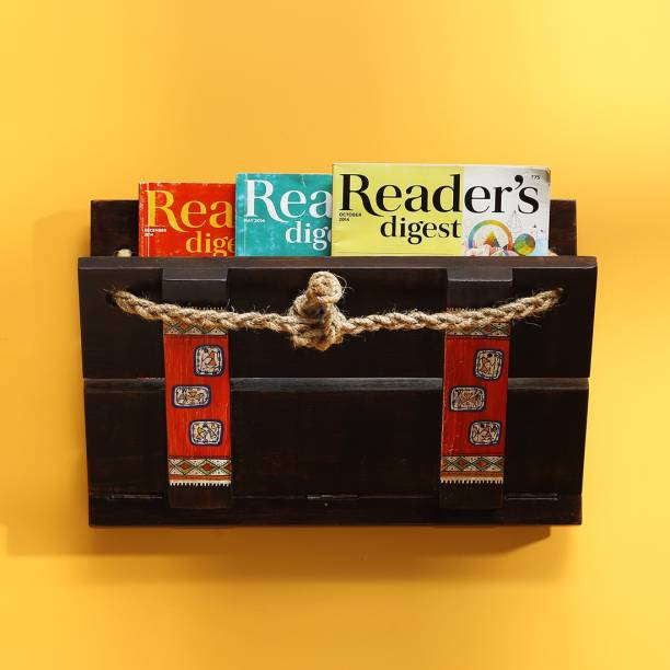 ExclusiveLane Leisure Reads' Extendable Warli Hand-Painted Wall Hanging Magazine Holder