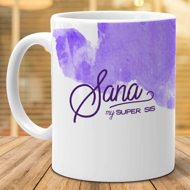 "HOT MUGGS ""Sana"" - My Super Sis Ceramic Coffee Mug"