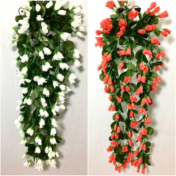 Badshah Craftsvilla Badshah1114120Villa Red Rose Artificial Flower  with Pot
