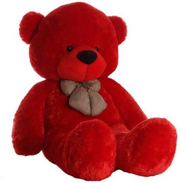 ToyKing 3 Feet Long Teddy Bear Red Teddy Bear  - 118.88 cm