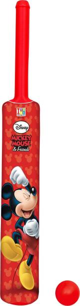DISNEY Mickey & Friends Big Size Bat & Ball Cricket Kit