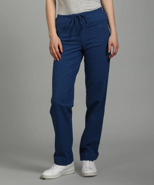 JOCKEY Solid Women Blue Track Pants