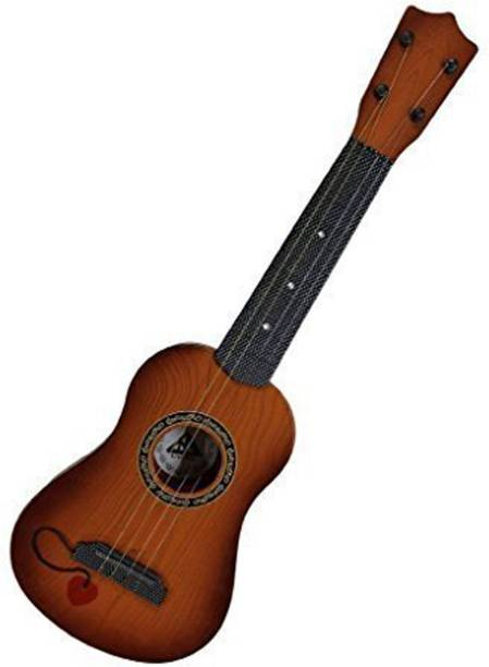 79aeb61493c YNS Crafts Stock Brown 15 inch 4 String Guitar Kids Plastic Acoustic Guitar
