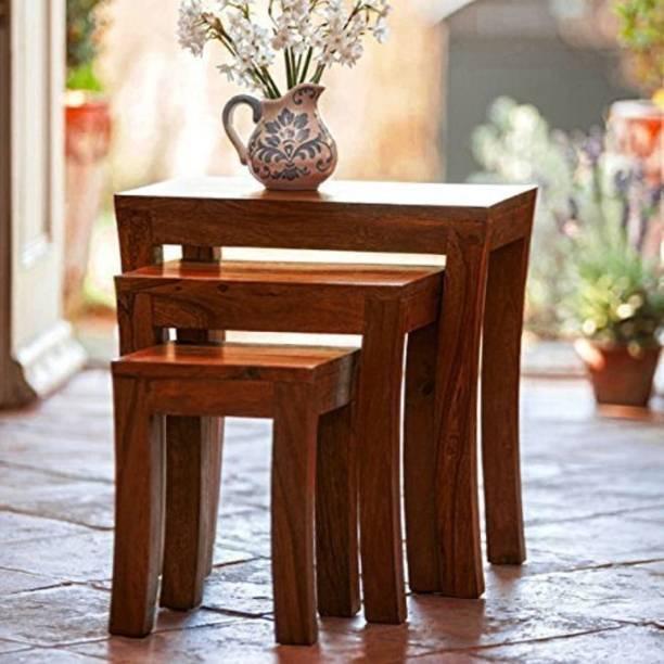 WoodWorld Sheesham Wood Solid Wood Nesting Table
