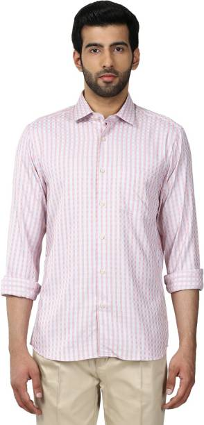 ColorPlus Men s Checkered Casual Spread Shirt 60c53227d