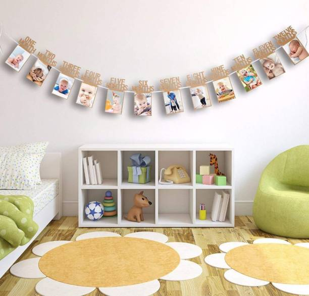 AMFIN photo banner for first birthday / First Year Birthday Photo Banner / Monthly Banner (12 Months) Banner