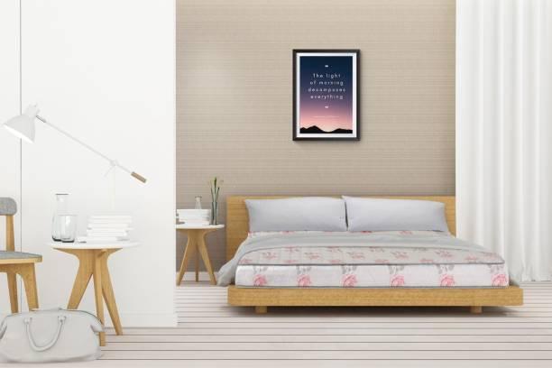 Sleep Spa SPINE SUPPORT Orthopedic Dual Comfort 4 inch Queen Bonded Foam Mattress
