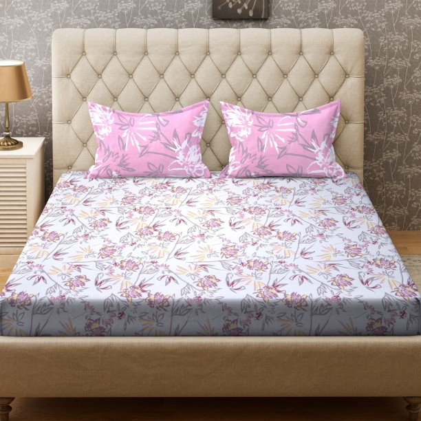 Gentil Bombay Dyeing 104 TC Cotton Double Printed Bedsheet